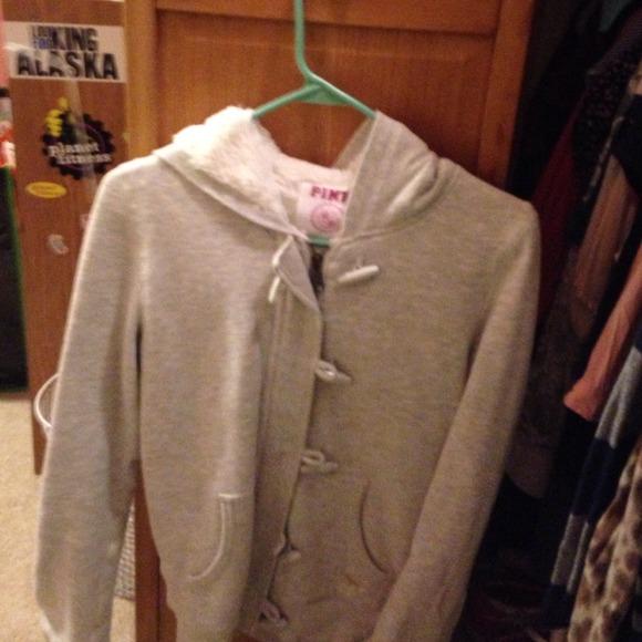 Victorias Secret Jackets Coats Victorias Secret Pink Fuzzy