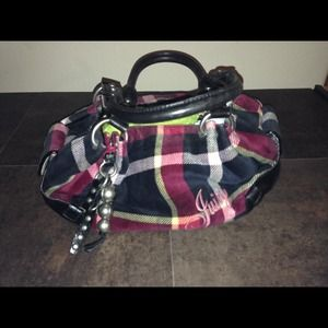Juicy couture plaid fluffy bag