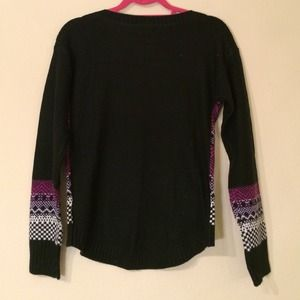 Mossimo Supply Co. Sweaters - NWOT Target Black/Purple Fair Isle Sweater Sz S