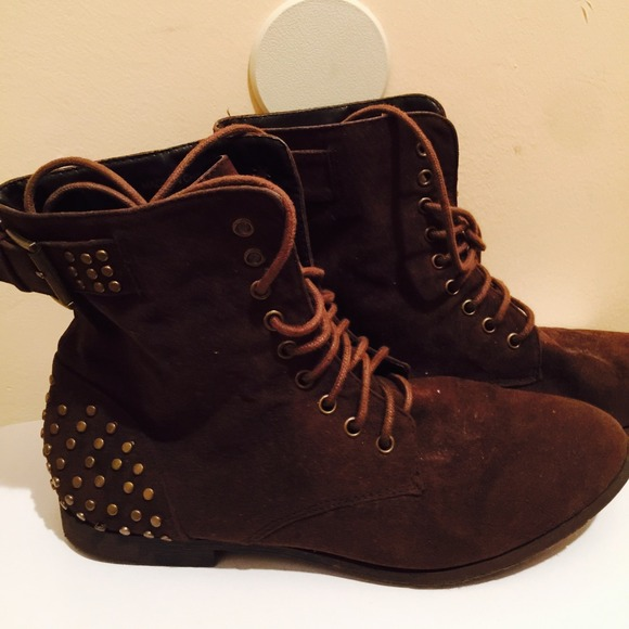 50 boots combat boots brown suede from mon ch 233 ri