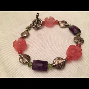Jewelry - Stone and sterling bracelet