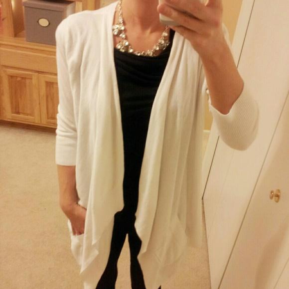53% off Jennifer Lopez Sweaters - JENNIFER LOPEZ White Cardigan ...