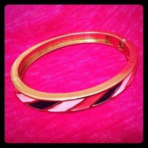 Pink, navy, and white bracelet