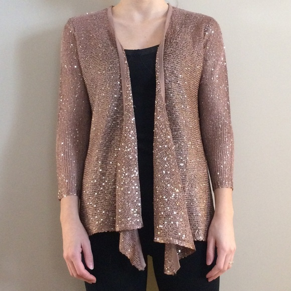 60% off Belldini Sweaters - Host Pick! Bronze sequin Cardigan ...