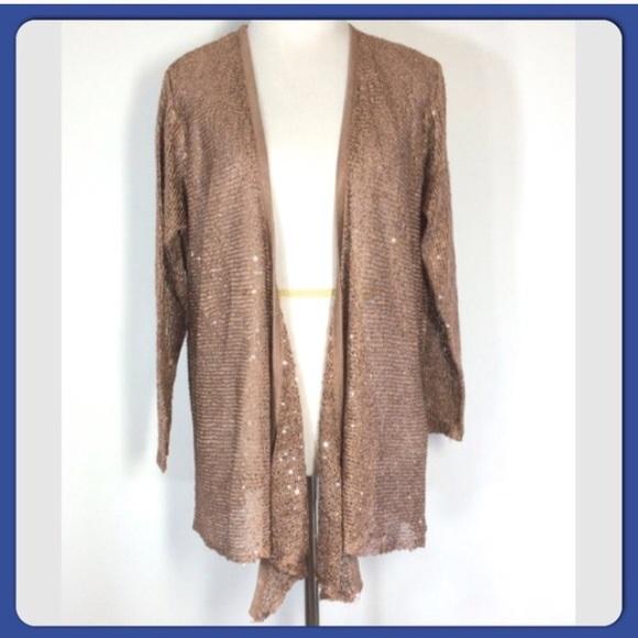 60% off Belldini Sweaters - Host Pick! Bronze sequin Cardigan ...