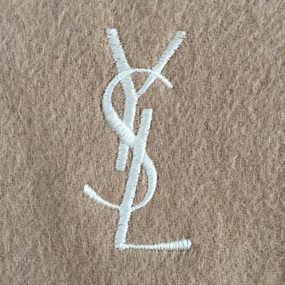 Yves Saint Laurent - Yves Saint Laurent 100% Authentic Wool Scarf ...