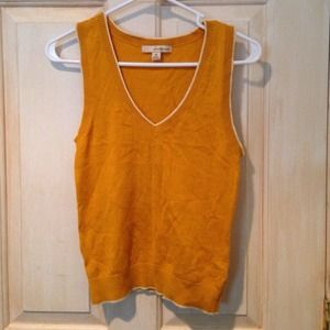 Mustard Yellow Sweater Vest