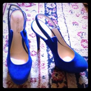 Gorgeous royal blue pumps Never used !!!