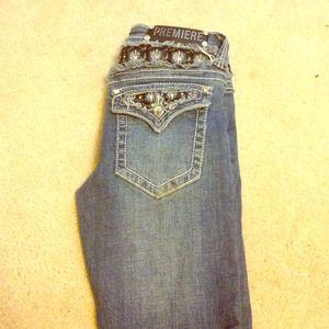 3/4 regular Premier blue jeans