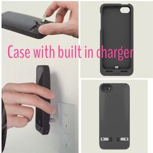 Accessories - 🔌Iphone 5 or 5S phone case with built in charger