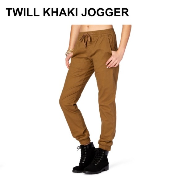 Luxury Publish Women39s Khaki Sienna Jogger Pants  Wildfang  Style  Culture