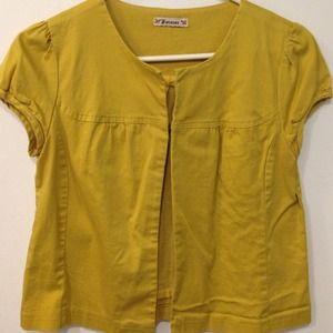 Mustard shirtsleeve blazer
