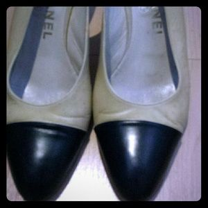 Good condition Chanel sling back heels for sale.