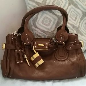 chloe bag with padlock