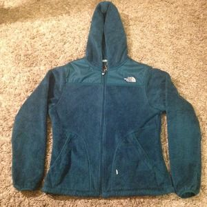 65 off north face outerwear north face teal fuzzy