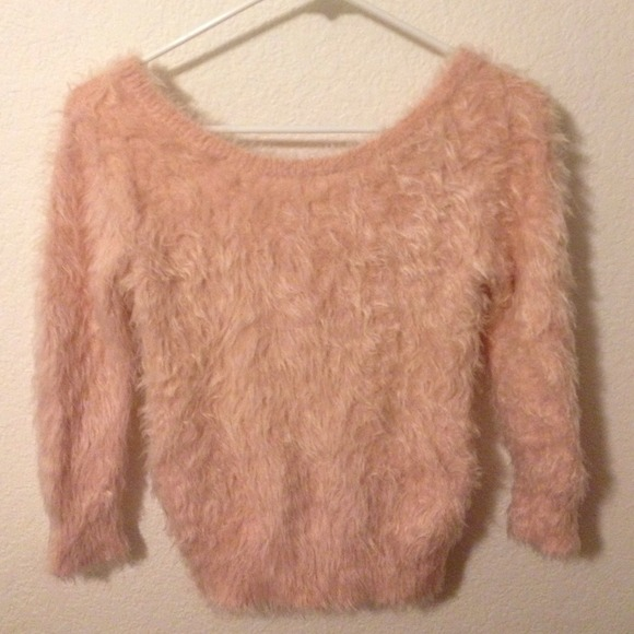 33% off Almost Famous Sweaters - Almost Famous light pink fuzzy ...