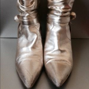 Metallic gold Valentino booties