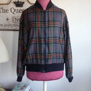 Vintage- First Option Jackets & Blazers - Vintage Plaid Bomber Jacket