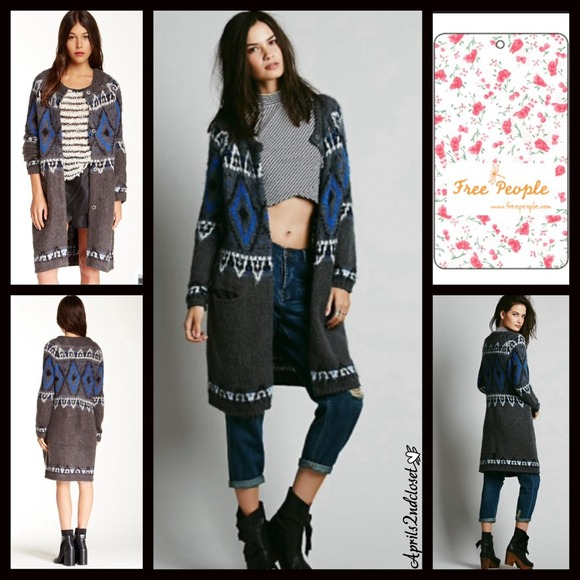 55% off Free People Sweaters - RESERVED Fair Isle Sweater Cardigan ...
