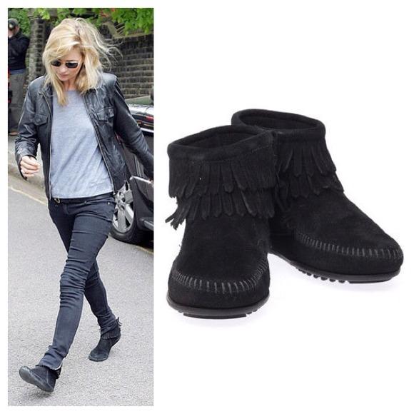 Minnetonka - Minnetonka Suede Fringe Ankle Boots from ! brinda's ...