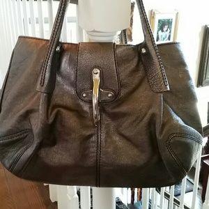 fay Handbags - Grey metallic leather handbag