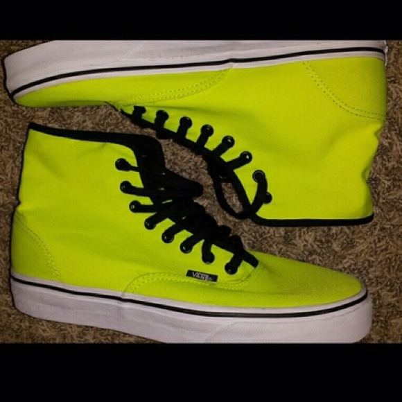 Vans Shoes | Like New Neon Yellow High