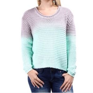 Ombré Waffle Knit Sweater