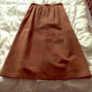 Loewe Dresses & Skirts - Vintage Loewe suede skirt
