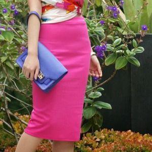 Dresses & Skirts - Body Conscious Pink Pencil Skirt