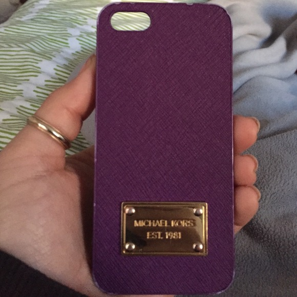573ce6c03aef Michael Kors Violet Saffiano Leather IPhone Case. M 5484ad70827a7273ee24fbf5