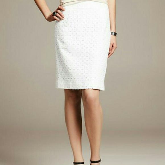 56 banana republic dresses skirts white eyelet