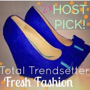 Shoes - ⚡BNIB Royal Blue Wedges⚡️