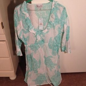 BNWT mud pie turtle cover up dress