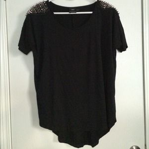 ASOS Tops - ASOS Black Maternity Tunic w/ Studded Shoulders