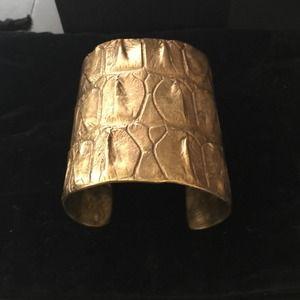 Raven Kauffman Jewelry - Raven Kauffman Brass Croc Cuff Bracelet