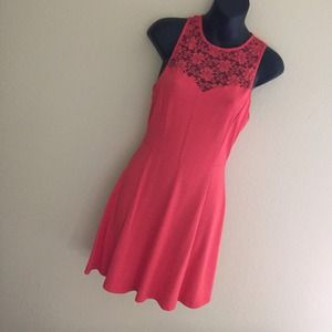 Red / Pink Lace Dress