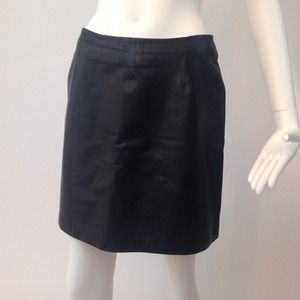 Cache Leather Skirt