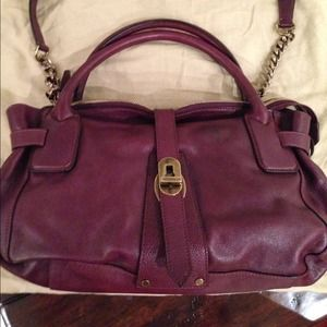 Burberry  East-West Plum Buffalo Leather Tote NWT