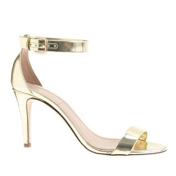 49% off J. Crew Shoes - J. Crew Mirror Metallic Gold High Heel ...
