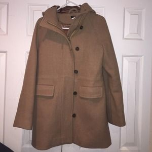 J CREW CAMEL WOOL COAT