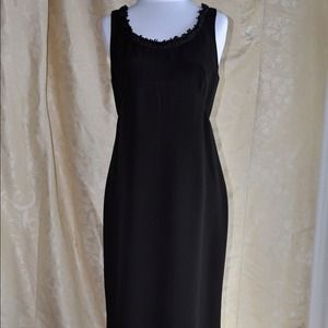 Valentino Vintage Black Dress with Embellishment