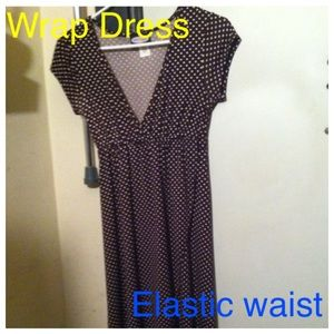 Great Condition Brown Polka Dot Dress Sz Med