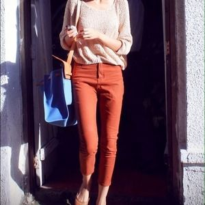 Zara dark orange jean