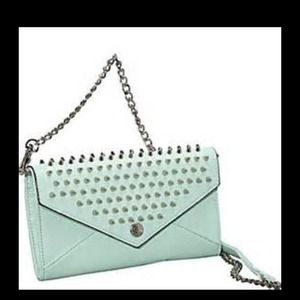 Rebecca Minkoff Mint Wallet on a Chain with Studs