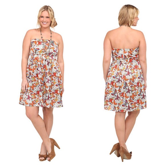 59% off torrid Dresses & Skirts - Torrid Butterfly Strapless Tube ...