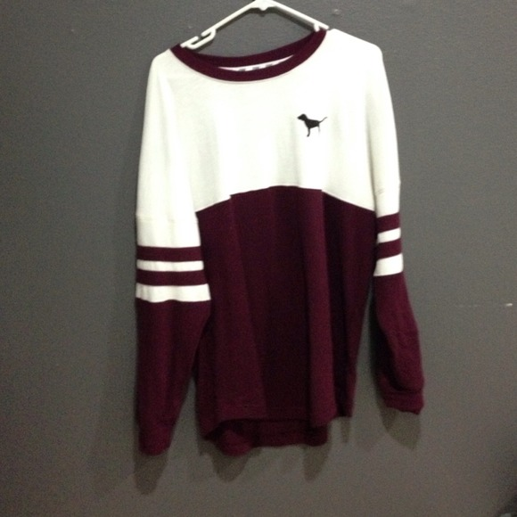 Vs Pink Crew Neck Sweatshirt | Fashion Ql
