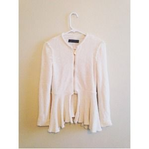 Zara Raw Edged Knit Blazer