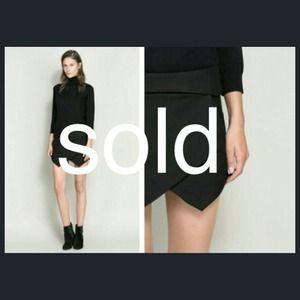 Zara Black Skort