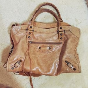 LOWER PRICE! Balenciaga City Bag in Camel