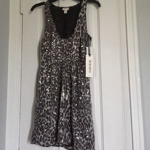 RODARTE for Target Gray Sequin Leopard Dress